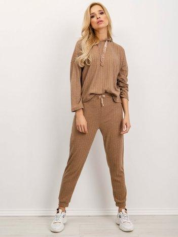 BSL Ciemnobeżowe spodnie damskie