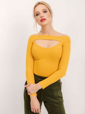 BSL Ciemnożółta bluzka damska