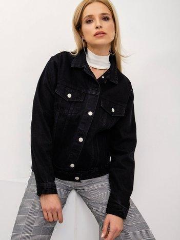 BSL Czarna kurtka jeansowa