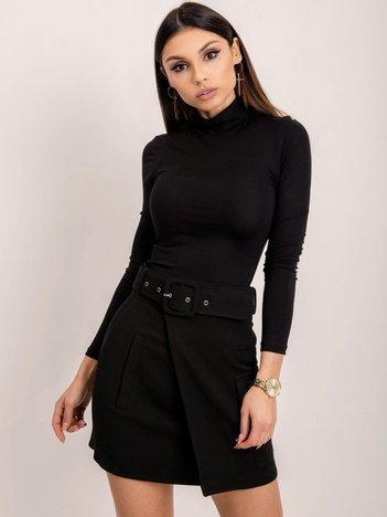 BSL Czarna spódnica z paskiem