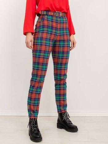 BSL Czerwone spodnie w kratę