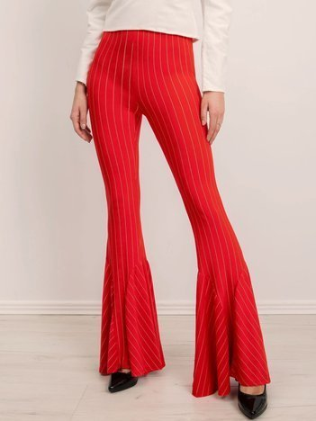 BSL Czerwone spodnie w paski