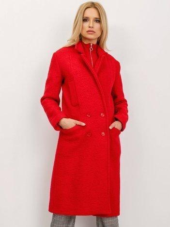 BSL Czerwony płaszcz damski