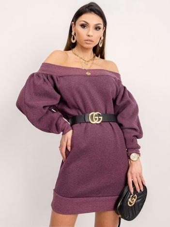 BSL Fioletowa sukienka dresowa