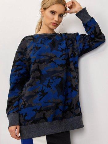 BSL Grafitowo-niebieska bluza moro