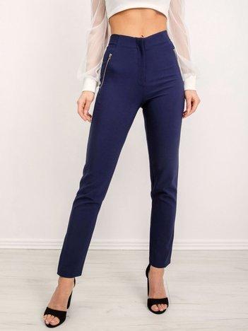 BSL Granatowe spodnie damskie