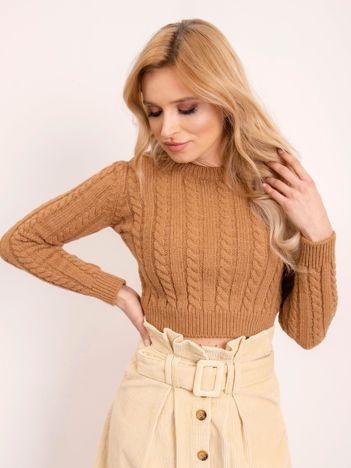 BSL Jasnobrązowy sweter