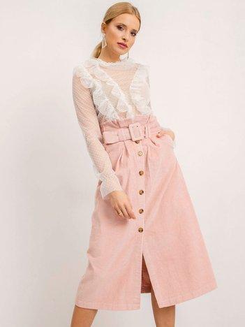 BSL Różowa spódnica z paskiem