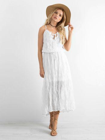 BY O LA LA Biała sukienka asymetryczna