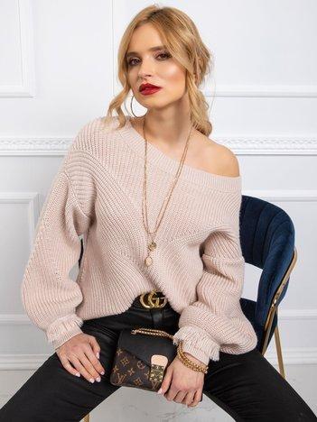 BY O LA LA Brudnoróżowy sweter damski