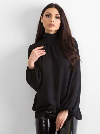 BY O LA LA Czarna elegancka bluzka