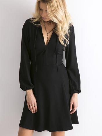 BY O LA LA Czarna rozkloszowana sukienka