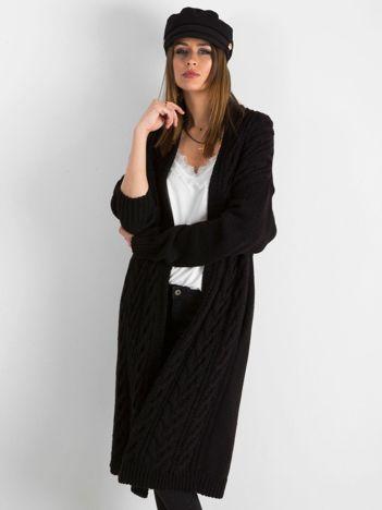 98c4188c2a BY O LA LA Czarny długi sweter