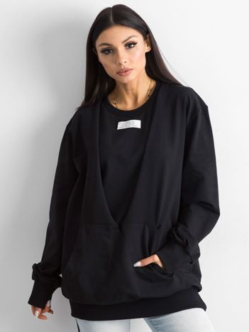BY O LA LA Damska bluza dresowa czarna