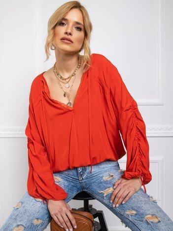 BY O LA LA Jasnoczerwona bluzka damska
