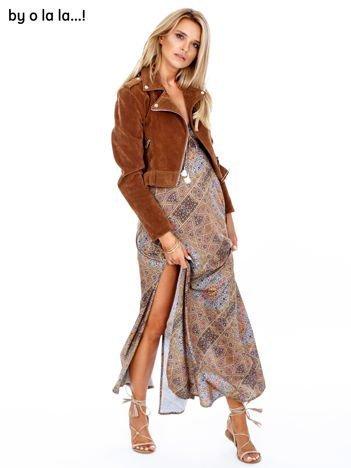 BY O LA LA Sukienka w etniczne wzory