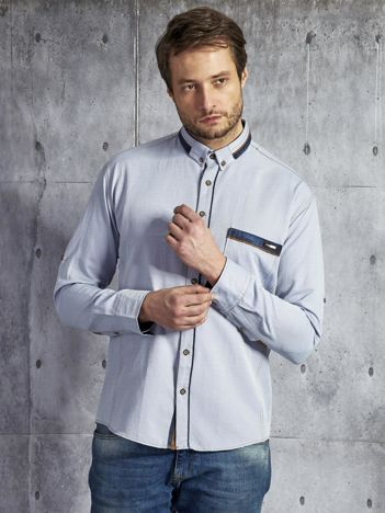 Bawełniana jasnoniebieska koszula męska