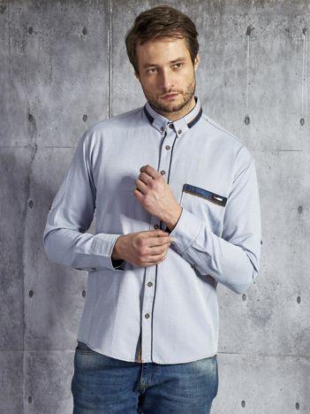 Bawełniana jasnoniebieska koszula męska PLUS SIZE