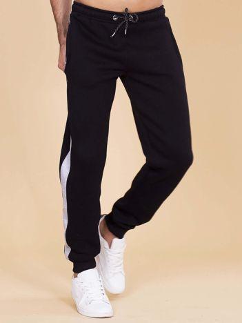 Bawełniane spodnie dresowe męskie czarne