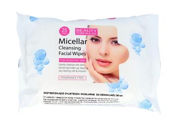 "Beauty Formulas Micellar Cleansing Chusteczki micelarne do demakijażu  1op.-25szt"""