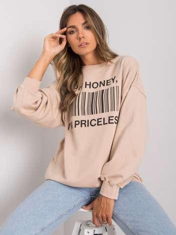 Beżowa bluza z nadrukiem Karis