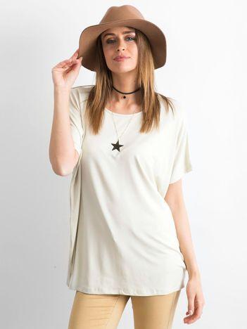Beżowa bluzka Oversize