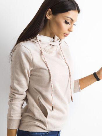 Beżowa damska bluza dresowa