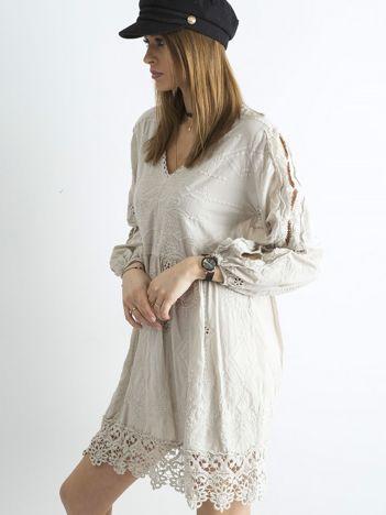 Beżowa luźna sukienka