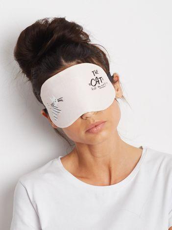 Beżowa maska do spania
