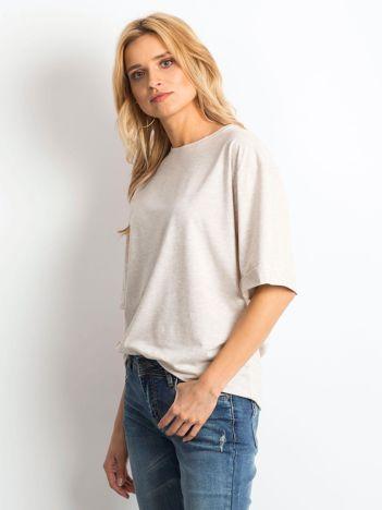 Beżowa melanżowa bluzka Alongside