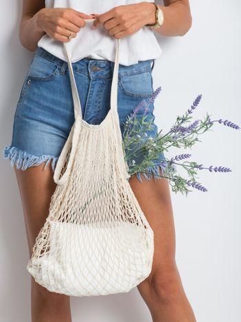 Beżowa siatkowa torba