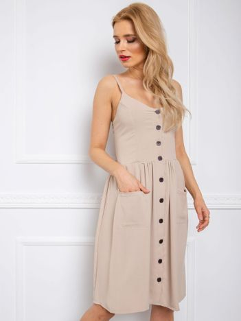 Beżowa sukienka Kendra RUE PARIS