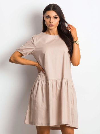 b5e930d155 Beżowa sukienka Style-conscious