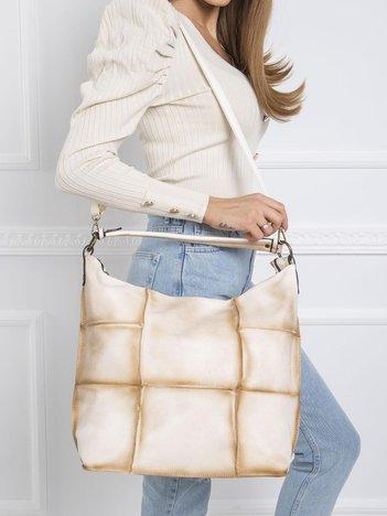 Beżowa torba patchwork