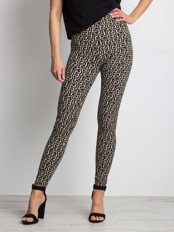 Beżowe legginsy Adjacent