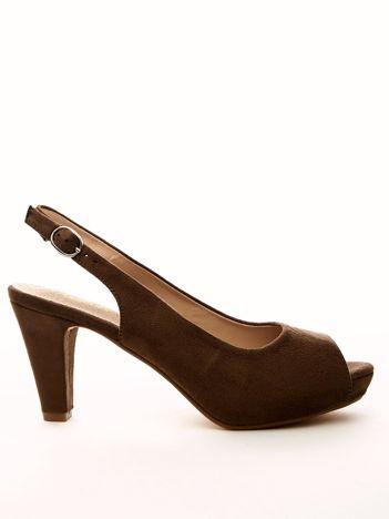 Beżowe sandały SABATINA z ecozamszu
