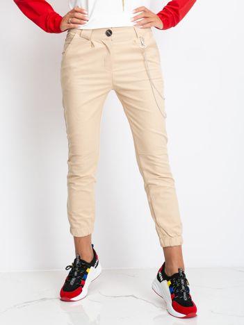 Beżowe spodnie Prince