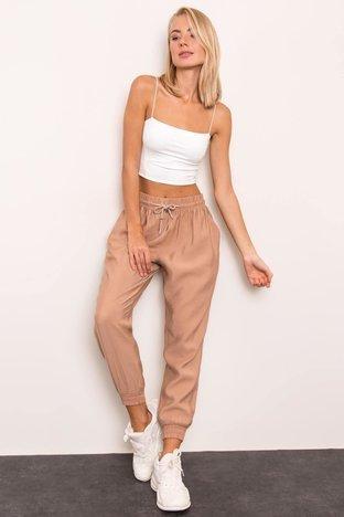 Beżowe spodnie damskie BSL