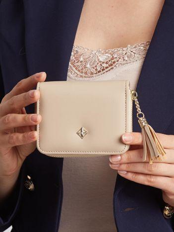 Beżowy mały portfel