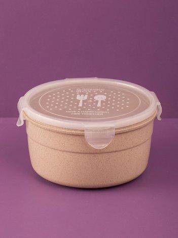 Beżowy okrągły pojemnik na żywność