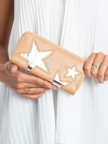 Beżowy portfel z aplikacją