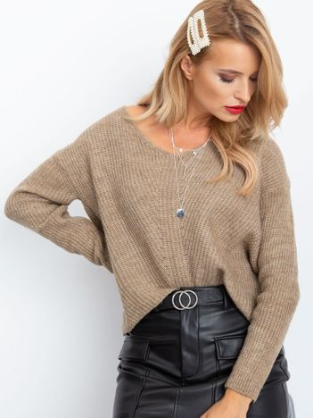 Beżowy sweter Touch