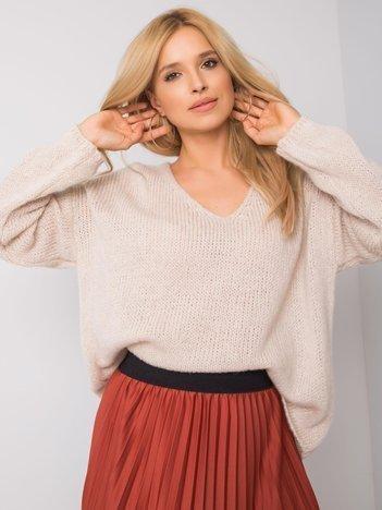 Beżowy sweter oversize Stella OCH BELLA