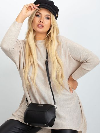 Beżowy sweter plus size Ester