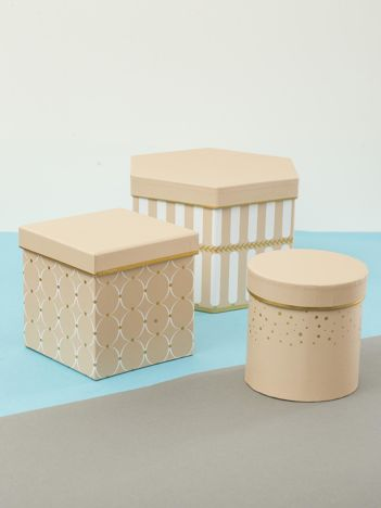 Beżowy zestaw pudełek