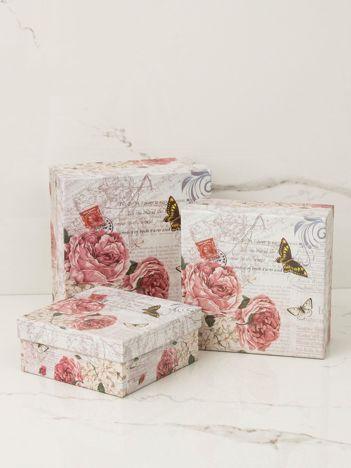 Beżowy zestaw pudełek 3w1