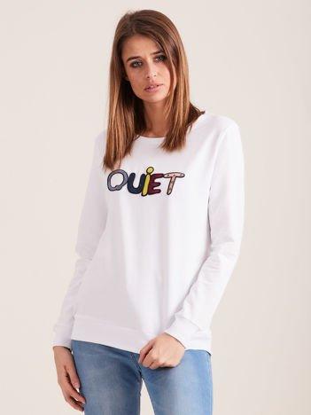 Biała bluza QUIET