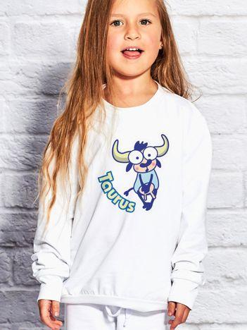Biała bluza dziecięca znak zodiaku BYK