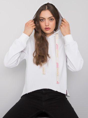 Biała bluza z kapturem Imagine