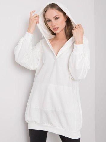 Biała bluza z kapturem Olive